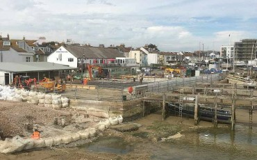 Sussex Yacht Club Foundations and Plinth