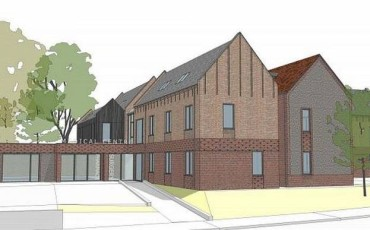 Work underway on the new Glebe Surgery, Storrington.