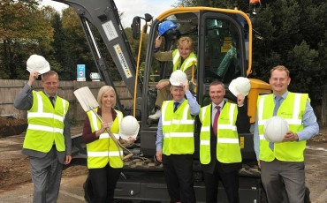 Ground breaking ceremony at Station Road, Godalming